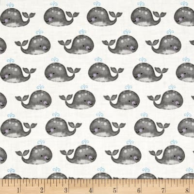 Anchor'S Away Mini Whales White/Gray