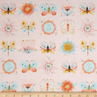 Dream Catcher'S Flannel Floral Butterfly Pink