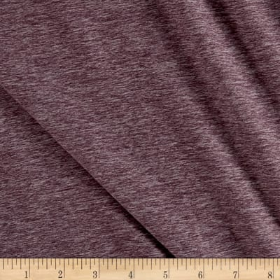 Fabric Merchants Double Brushed Jersey Knit Wine Two Tone