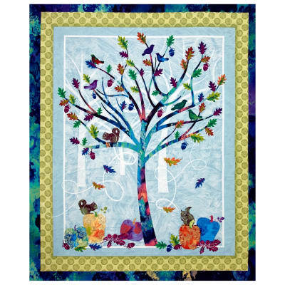 "Autumn Hues 36"" Tree Panel Multi"