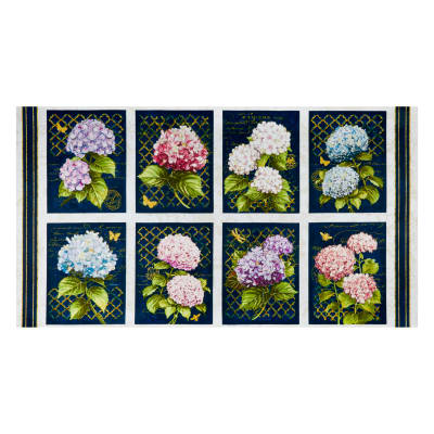 "Wilmington Hydrangea Dreams Craft 24"" Panel Multi"