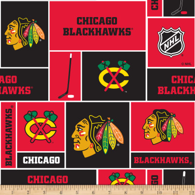 Nhl Fleece Chicago Blackhawks Discount Designer Fabric