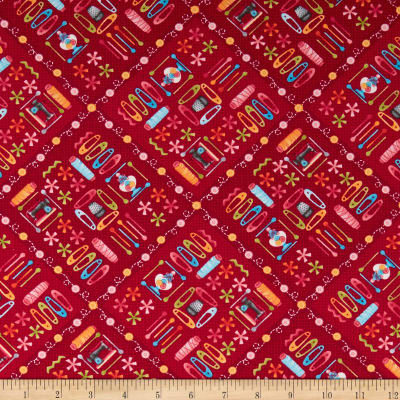 One Stitch At A Time Sewing Notions Red
