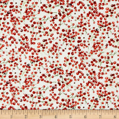 Sheltering Snowman Multi Berries White/Red