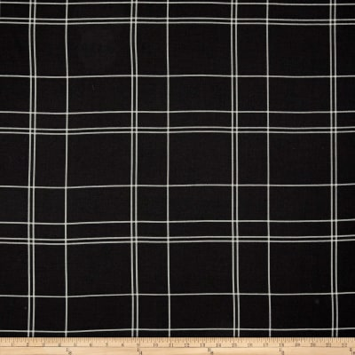 Telio Pebble Crepe Plaid Black