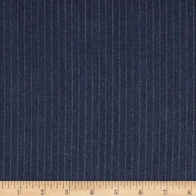 Telio Rayon Denim Stripe Dark Blue