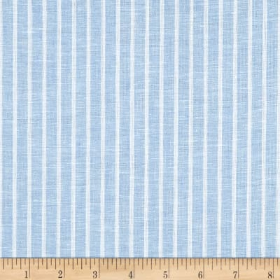 Telio Romsey Linen Stripe Medium Blue