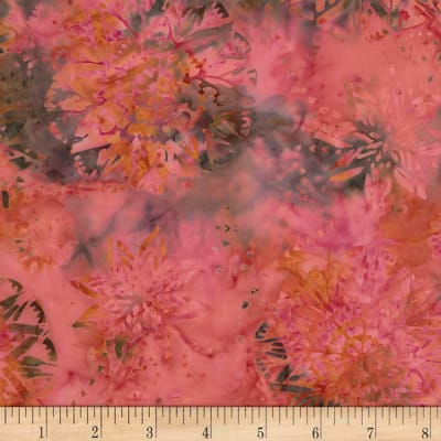 Timeless Treasures Tonga Batik Mini Garnet Dream Coral