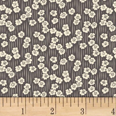 Sussex Floral Stripe Charcoal