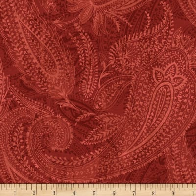 "Paisley 108"" Wide Back Red"