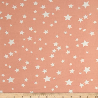 Double Brushed Jersey Knit Starburst Blush/White