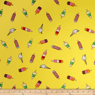 Double Brushed Jersey Knit Popsicle Parade Yellow