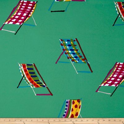 Alexander Henry Beach Chair Canvas Teal