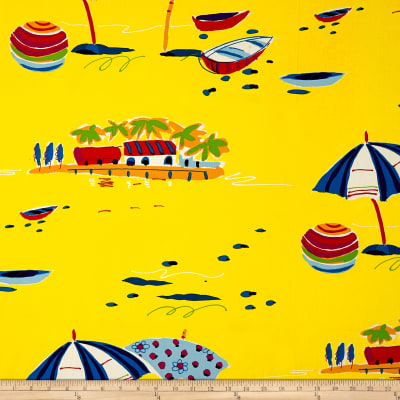 Alexander Henry Sunshine Isle Canvas Yellow