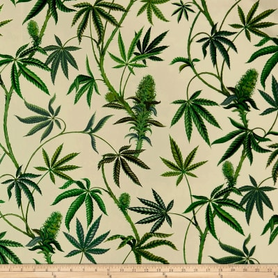 Alexander Henry Cannabis Sativa Canvas Light Tea