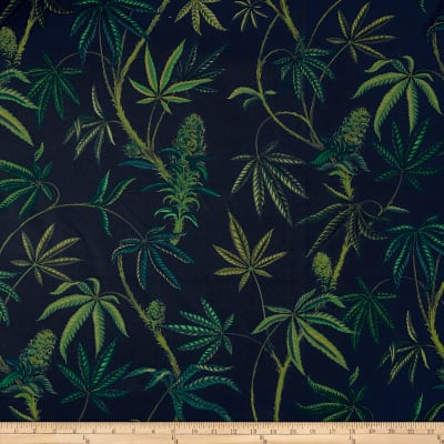 Alexander Henry Cannabis Sativa Canvas Navy