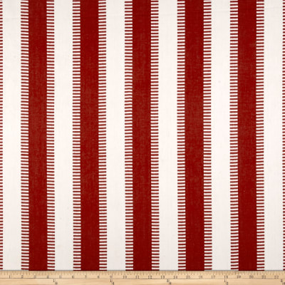 Laura & Kiran New Ladder Stripe Merlot Canvas