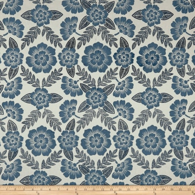 Laura & Kiran Bohemia Print Basketweave Chambray