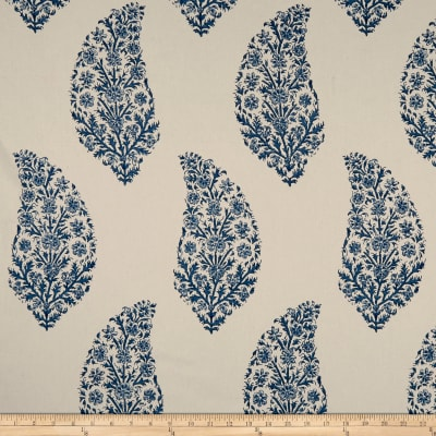 Laura & Kiran Zahara Print Basketweave Dutch Blue