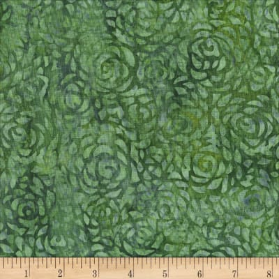 "Anthology Batiks Abstract Rose 108"" Wide Back Pine"