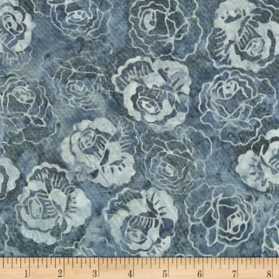 Anthology Batiks Roses Smoke