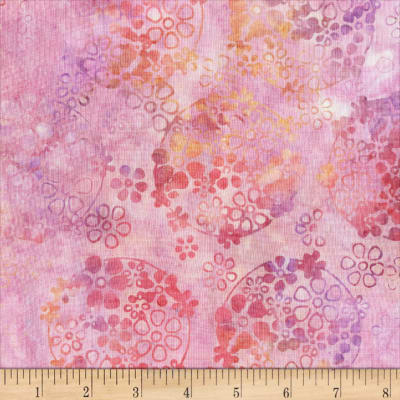 Anthology Batiks Ditzy Daisy Pink