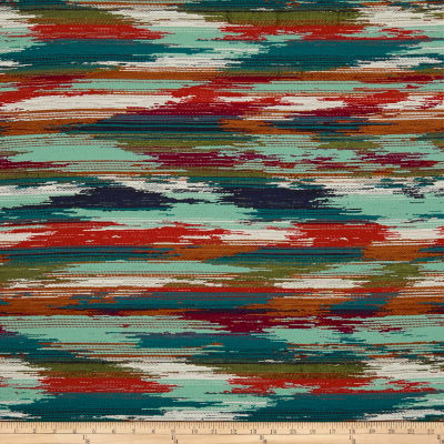 Artistry Navajo Southwest Abstract Jacquard Teal Multi