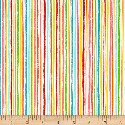 Andover/Makower Fruity Friends Chalk Stripe Multi