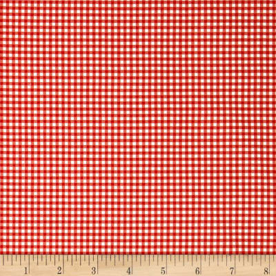 Andover/Makower Fruity Friends Gingham Red
