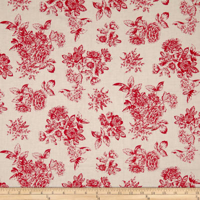 Andover/Makower Katie Jane Toile Red