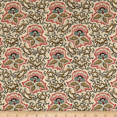 Andover Maling Road Canterbury Flower  Brown