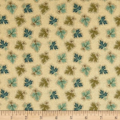 Andover Maling Road Oak Leaves Brown /Teal
