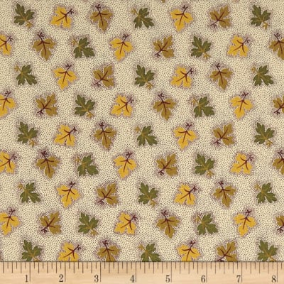 Andover Maling Road Oak Leaves Gold Green