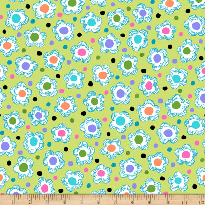 QT Fabrics Gypsy Dotted Floral Light Green