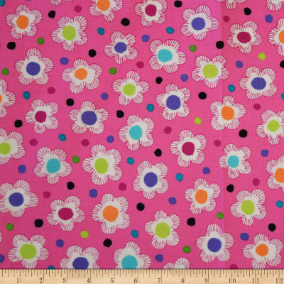 QT Fabrics Gypsy Dotted Floral Pink