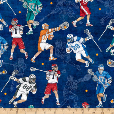 QT Fabrics Dan Morris Stick With It Lacrosse Royal
