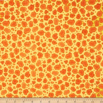 QT Fabrics Wild Things Giraffe Print Yellow