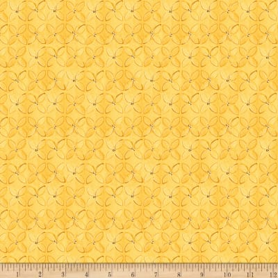 QT Fabrics Wild Things Geometric Flower Yellow