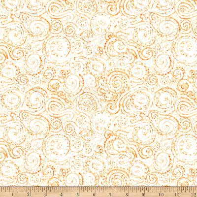 QT Fabrics Wild Things Scroll Orange