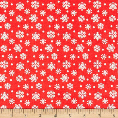 Santa And Friends Snowflake Red
