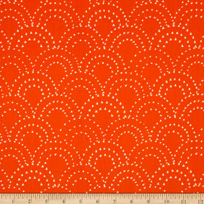 On Your Mark Scallop Doodles Persimmon