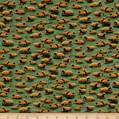 QT Fabrics Flying Geese Baby Geese Green