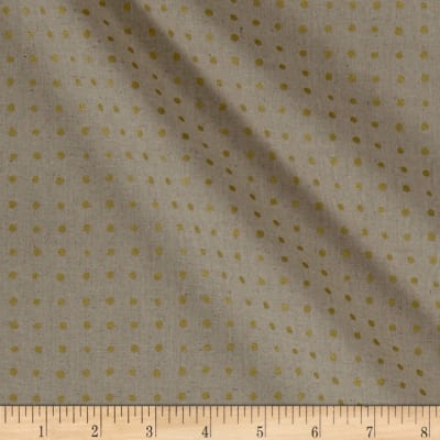 Andover Around Town Small Dots Metallic Linen Natural