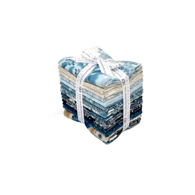 Kaufman Imperial Collection Fat Quarter Bundle Indigo Metallic