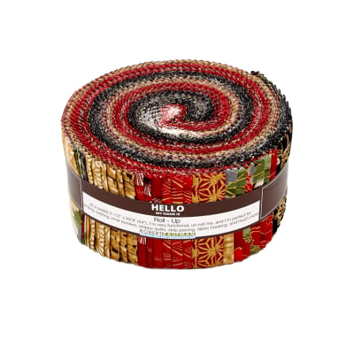 Kaufman Imperial Collection Roll Ups Crimson Metallic