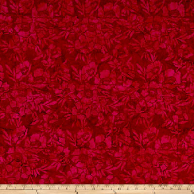 Timeless Treasures Tonga Batik Poppy Poppies Crimson
