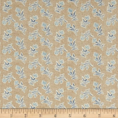 Andover Something Blue Summer Field Burlap