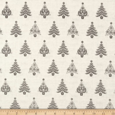 Andover/Makower Scandi 2018 Trees Silver