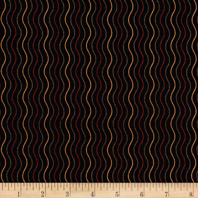Andover Haunting Scratch Stripe Black