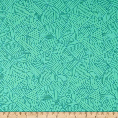 Andover Mosaic Lines Turquoise